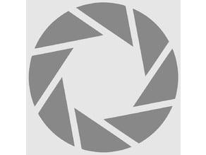 aperture science talisman/charm/mascot/keychain