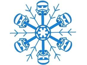 Star Wars Imperial Snowflake (BlocksCAD Snowflake Challenge)
