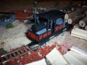 N Scale Climax A Steam Locomotive