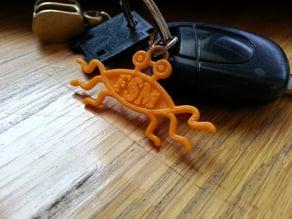 FSM - Flying Spaghetti Monster keychain