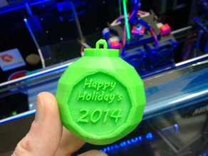 """Happy Holiday's"" 2014 Tree Ornament"