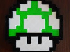 Mario 8-bit 1 up mushroom