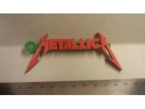 Metallica Logo Keychain