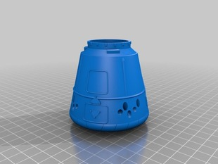 Easy Print Dragon spacecraft
