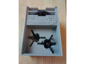 TIE Phantom x2 Holder (X-Wing Miniatures) for Stanley organizer