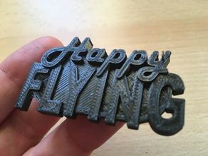 Painless360 'Happy Flying' Catchphrase Badge