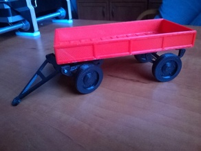 Farm trailer for toy tractor