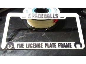 (Fixed) Spaceballs, The License Plate Frame