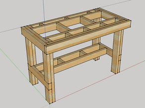 Rock Solid Workbench made of 2x4's