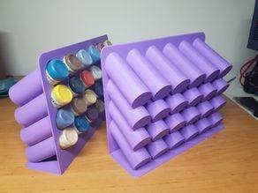 Airbrush dropper bottle rack
