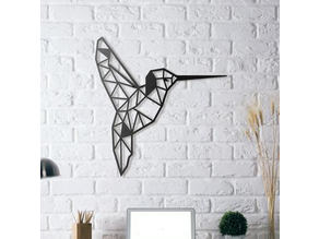 Colibri Humming Bird Wall Sculpture 2D