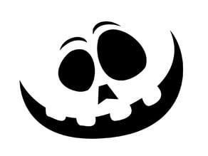 Pumpkin Face - Stencil