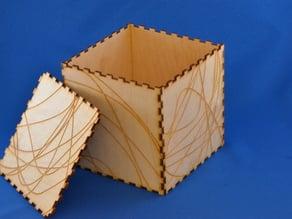 Wood Cut Box