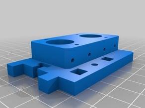 Printerbot Jr. V2 DUAL Bowden adapter plate V1.0 (EXPERIMENTAL)