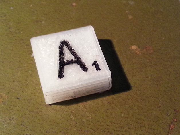 Scrabble Tile Generator By Glyn Thingiverse