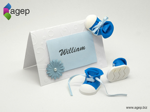 Place Card Decoration - Baby Shoe
