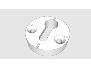 Keyhole hanger / Schlüssellochhalter