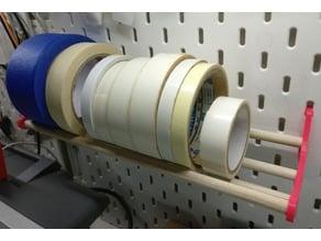 Tape Holder for IKEA Skadis Pegboard