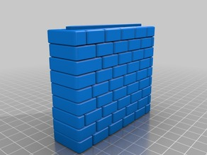 Thick Stone Wall - Interlock (left edge)