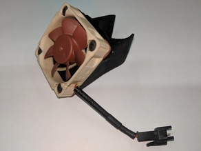 Canted Cooling Fan Shroud for 40mm Fan
