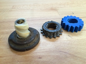lawn tractor - gear for starter motor