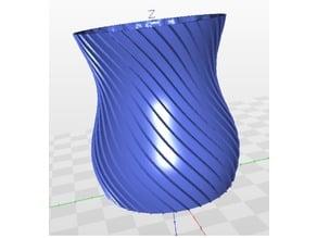 Bubbly line vase