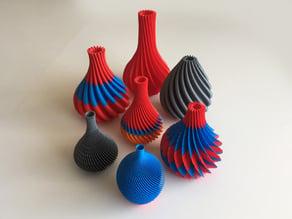 36 Twirl Vases