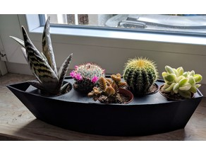 Flowerpot for Five Mini-Cactus