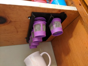 K-cup under shelf holder