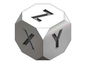 Calibration Cube 20mm XYZ Chamfered