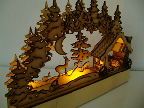 LaserCut - candle arch - Schwibbogen Schmiede