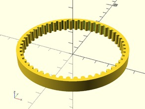 Parametric Pulley Belt