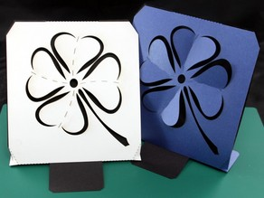 Big Card - Shamrock - lasercut -  St. Patrick