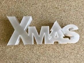 Xmas lettering box/led