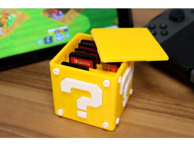 Switch Glow n Dark Question Block Cartridge Case