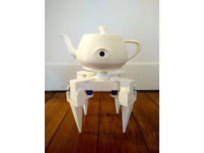 Eyepot, a creepy four-legged teapot
