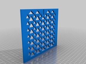 """Ceiling / Wall Register fits 12"""" x 6"""" Triangle Design"""
