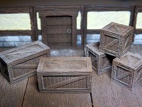 threednd wooden crates