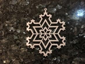 Koch Snowflake Ornament 3