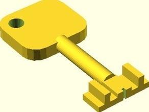 Parametric front bitting key