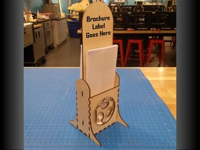 Two Sided Brochure Holder