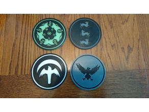 Game of Thrones Coasters (Remix, More Houses)