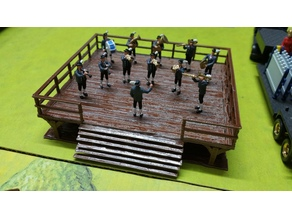 Stage - H0 1/87 1:87 for a traditional Bavarian brass band / Bühne für eine traditionelle Bayerische Blaskapelle