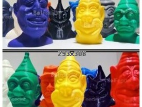 Creepy Clown Busts