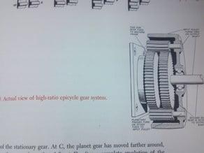 compact high-ratio epicyclic gearset 10:1
