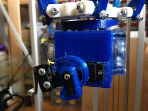 Support for MG90S servo mounted on Reprappro Mendel extruder for auto bed leveling