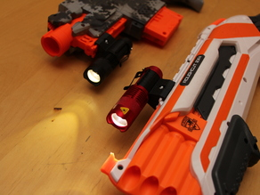 Sipik SK68 flashlight holder for NERF rail