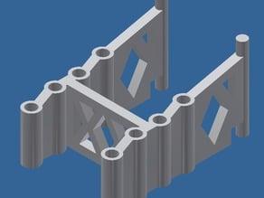 Flashforge Creator Pro (2015) Multi spool width Filament Alignment Bracket
