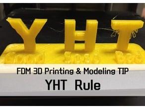 """YHT Rule"" for learning of FDM 3D printer"
