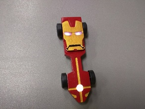 Iron Man Pinewood Derby Car with LED Lights